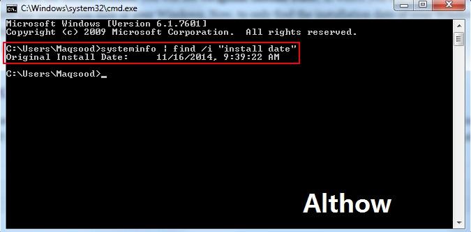 Windows Installation Date