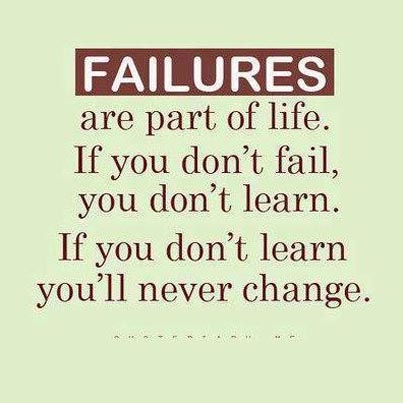 Failures a key to success