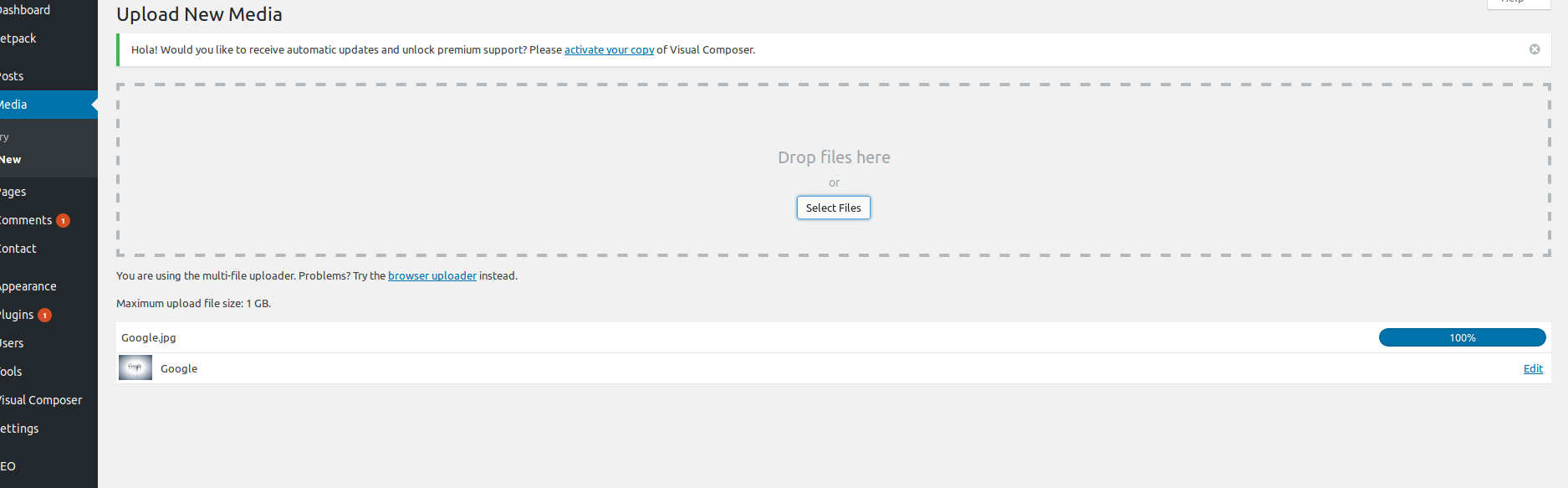 HTTP error while image upload in WordPress : Resolved
