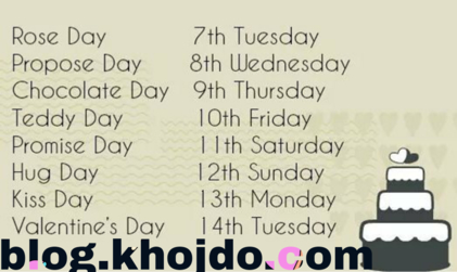 schedule of valentine week