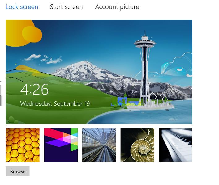 How to change or customize the Lock Screen Image on windows 8 step by step guide, Select a new Lock screen image here