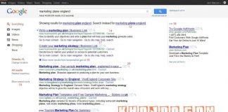 The Google search result page