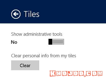 The toggle switch for turning administrative tools on and off