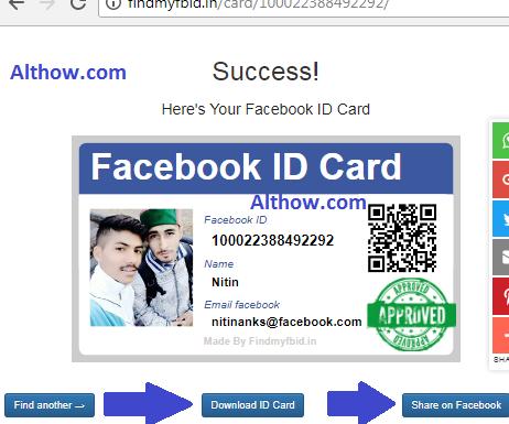 get id card fb