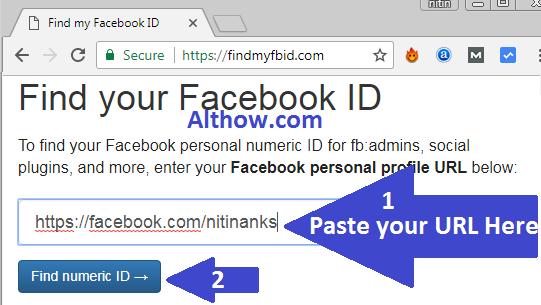 Click Find numeric ID