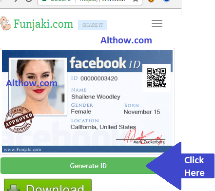 Generate Facebook ID