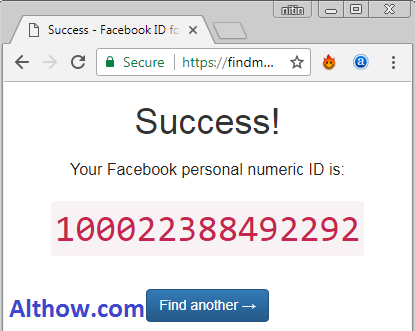successfully Got Facebook ID