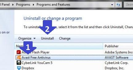 Uninstall Avast Antivirus on Windows