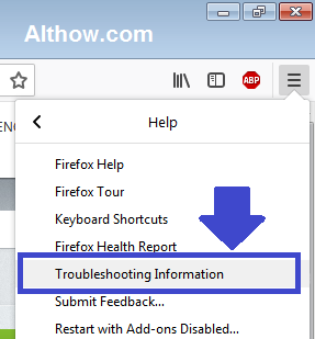 Firefox Troubleshooting Information
