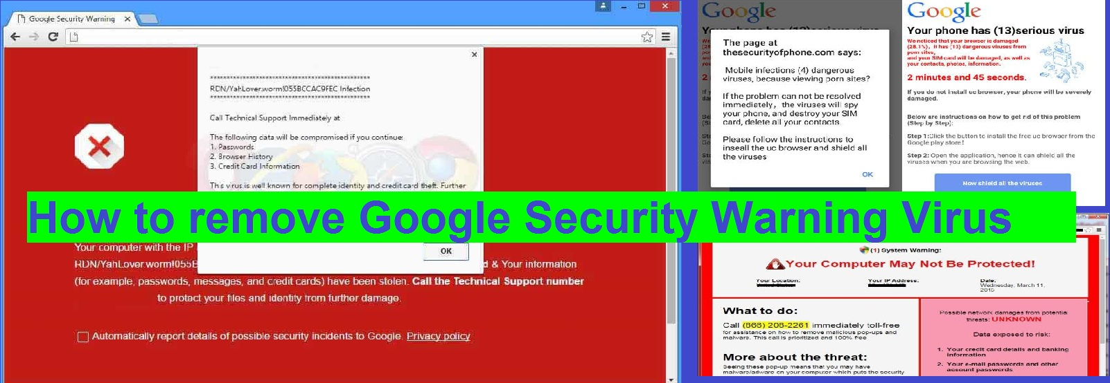 How to Remove Security Warning Popup virus from Windows or Android