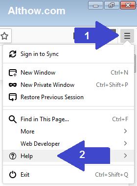 Open Firefox Help