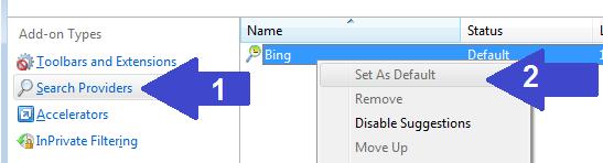 Set as default Internet Explorer