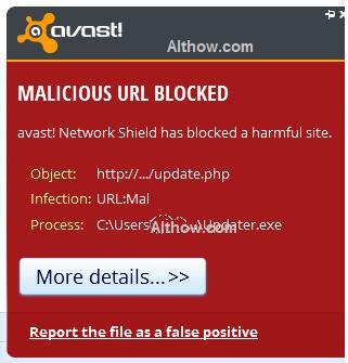 Avast URL:Mal