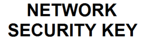 What is the network security key