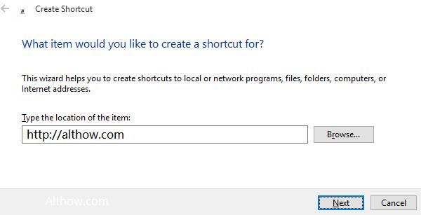 Add website address to startup windows 10