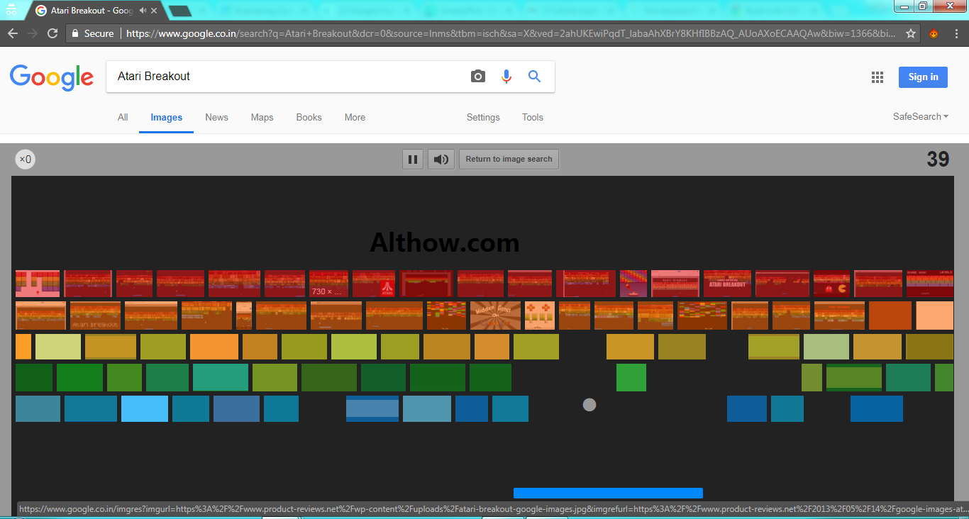 Google Hacks Game - Atari Breakout