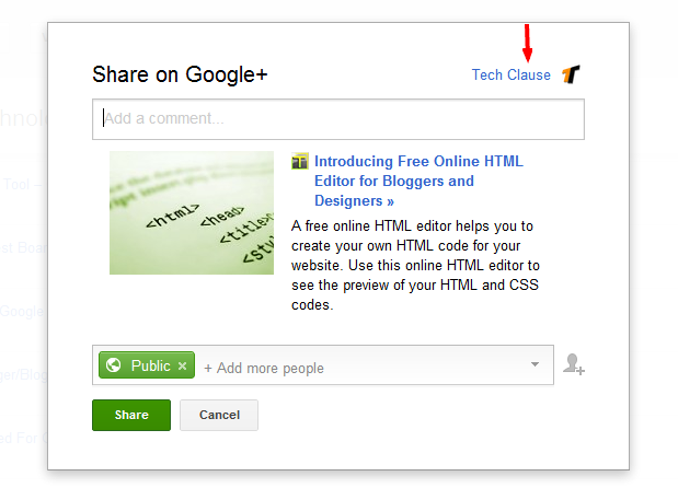 Connect blogger to Google+