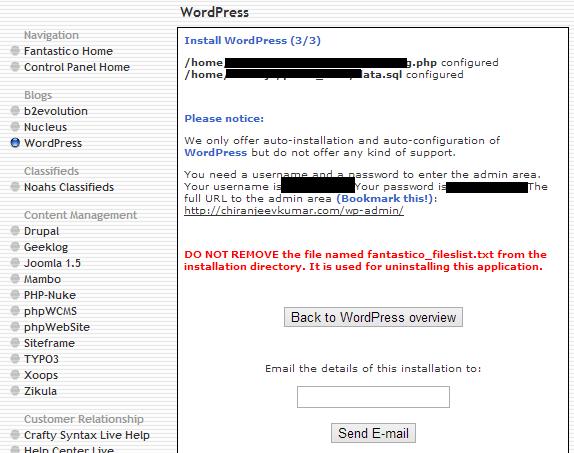 WordPress overview.