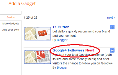 Google+ Follower widget
