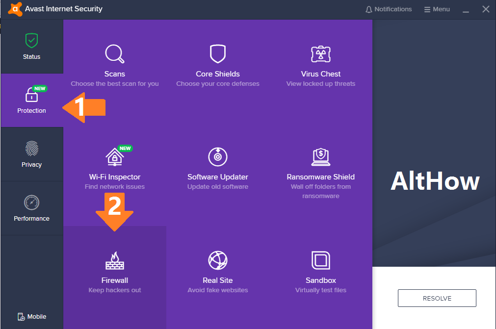 How to disable avast firewall 2018