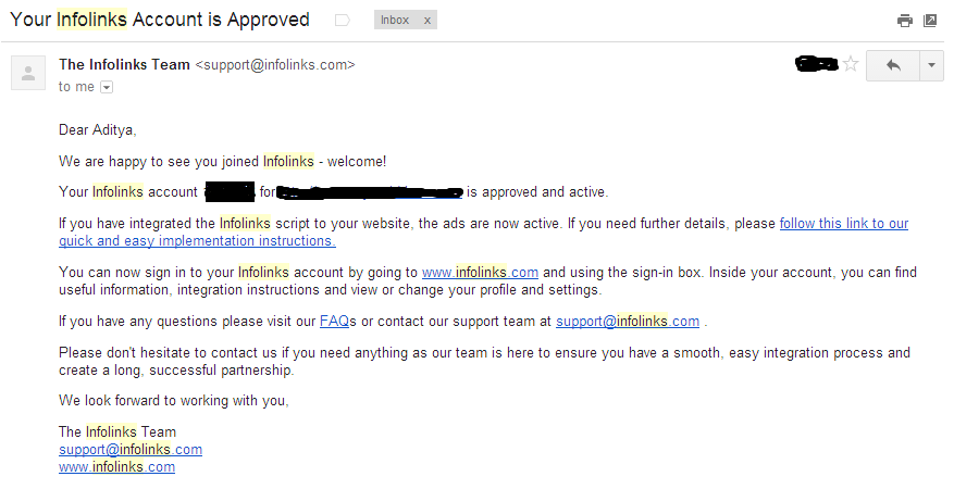 Infolink account approved-techblot