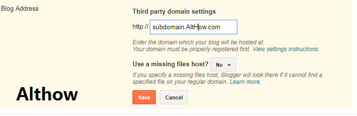 subdomain to blog