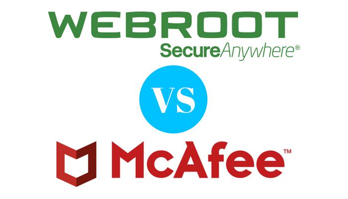 Webroot antivirus vs McAfee antivirus