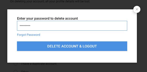 How to delete naukri account permanently