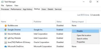 How to stop chrome from opening on startup in windows 10