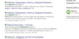What is webroot filtering extension in chrome