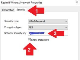 Check connected wifi password in windows 10